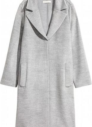 Шикарное серое пальто h&m