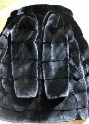 Норковая шуба поперечка blackglama