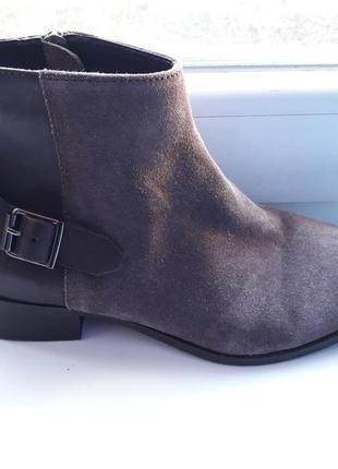 Моднячие ботинки!кожа +замша.размер 38