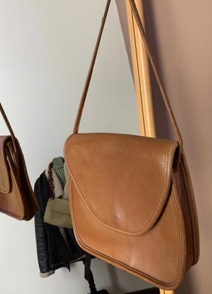 Coach оригинал кожаная коричневая сумка