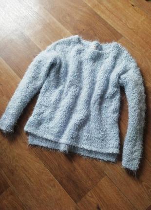 Плюшевый свитер травка, джемпер, кардиган, кофта, свитерок, свитшот