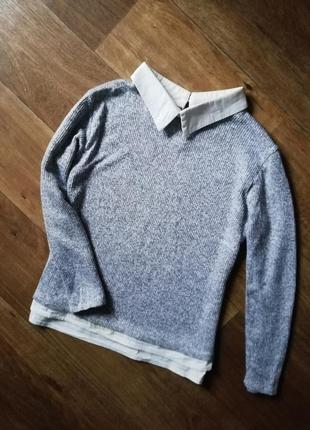 Джемпер, кардиган, кофта обманка, рубашка, свитер, свитерок
