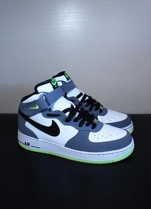 Оригинал nike air force 1 mid (gs) высокие кроссовки баскетбол
