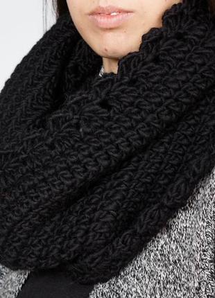 Тёплый шерстяной шарф - ручная работа