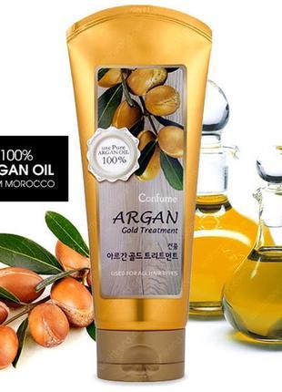 Маска для волос с маслом арганы и золотом welcos confume argan gold treatment