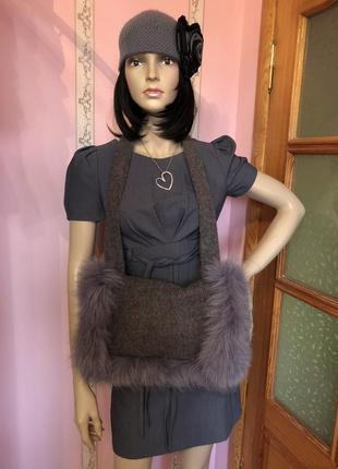 Муфта-сумочка от anna yakovenko с натуральным мехом песца