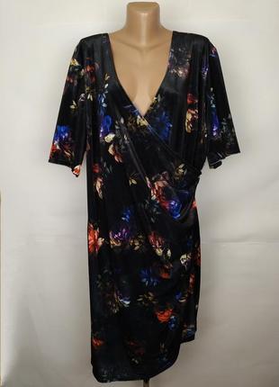 Платье велюровое шикарное большой размер joe browns uk 26/54/5xl