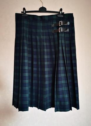 Тёплая юбка миди плисе батал marks&spencer uk18 eur 46 наш 52