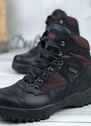 Зимние трекинговые ботинки сапоги кожаные gote tex