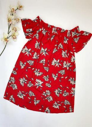 Яркое красное платье в цветочный принт atmosphere большой размер 16, 54