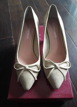 Элегантные кожаные замшевые туфли monarch