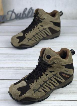 Демисезонные трекинговые ботинки сапоги кожаные