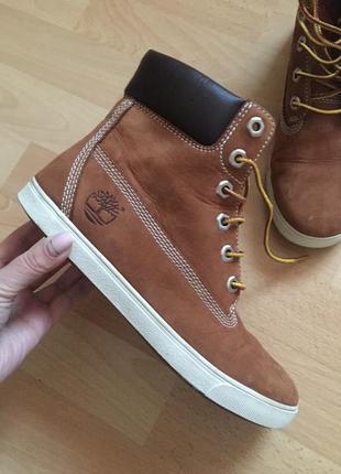 Кожаные кеды ботинки timberland