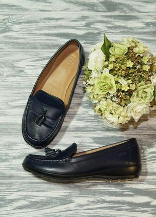 🌿39🌿hotter. кожа. англия. комфортные туфли, мокасины на низком ходу