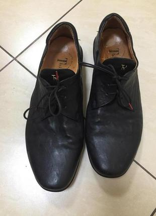 Кожаные туфли мокасины ecco