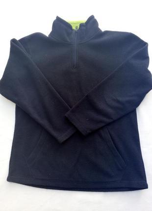 Джемпер флисовый фирменный. свитер кофта мальчику 10-12 лет 140-152 см
