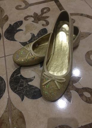 Туфли золотые 38 размер