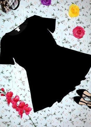 🌿1+1=3 шикарное фирменное короткое черное платье h&m, размер 44 - 46