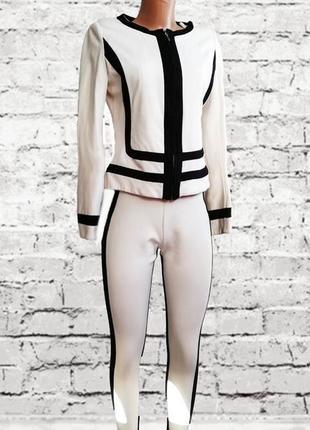 Черно - белый костюм