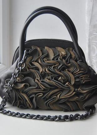 Кожаная сумка кроссбоди tosca blu / шкіряна сумка