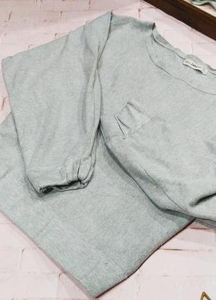 Оверсайз свитшот кофточка свитер летучая мышь zara
