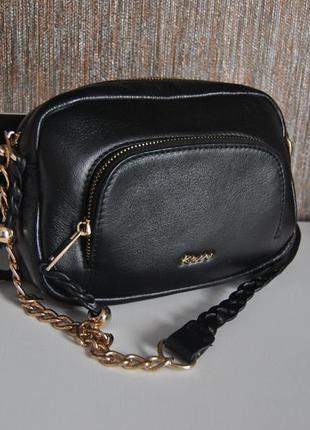 Кожаная сумка кроссбоди kew /шкіряна сумка