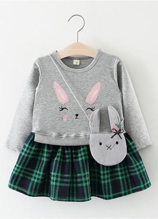 Милые  нарядные платьица с зайкой
