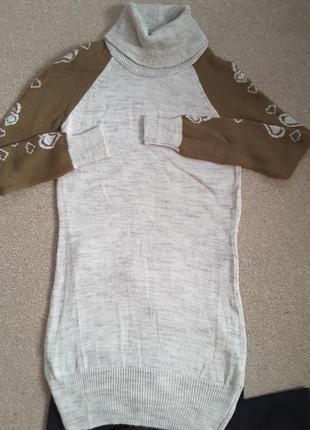 Свитер-платье.