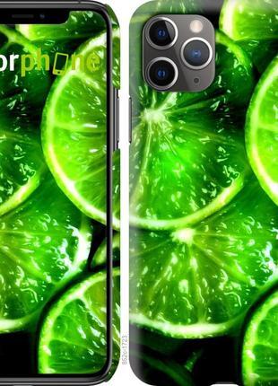 """Чехол """"зелёные дольки лимона"""" для iphone 11 pro max"""