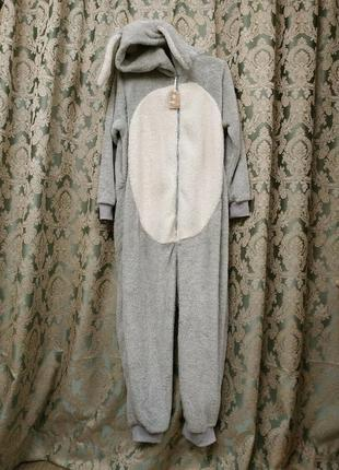 Шикарная пижама слип кигуруми человечек для дома для сна с карманами от next зайка англия