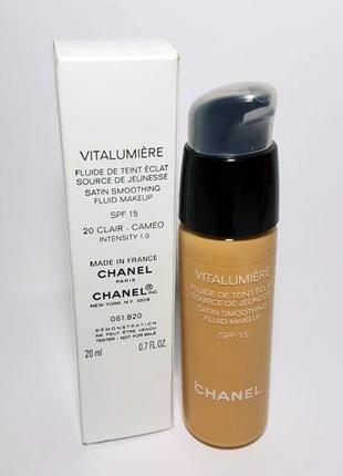 Chanel тональный флюид vitalumiere fluide de teint eclat spf 15