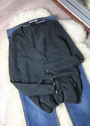 Шерстяной кардиган с карманами tommy hilfiger