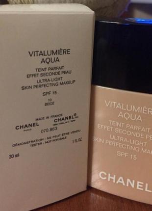 Chanel ультралегкий тональный флюид spf 15 chanel vitalumière aqua