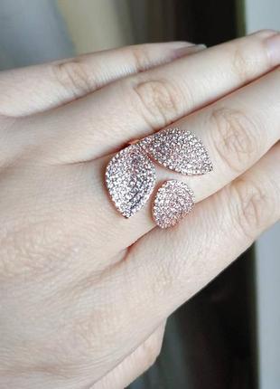 Колечко золотистое регулирующееся кольцо