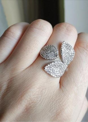 Кольцо серебристое колечко регулирующееся