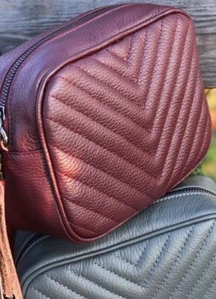 Кожаная сумка кроссбоди италия