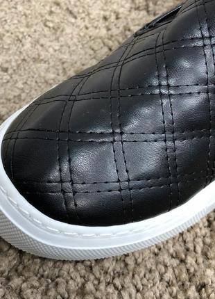 Slippers miller quited black/white