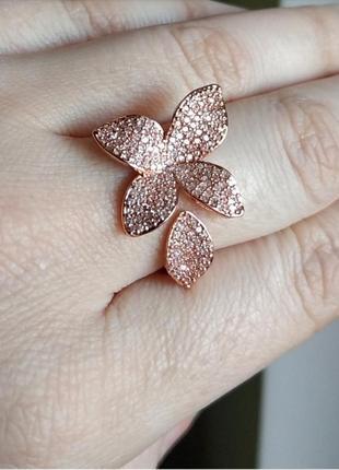 Колечко кольцо золотистое цветочек