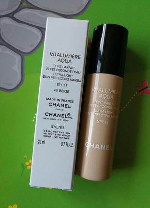 Chanel тональный крем chanel vitalumiere aqua