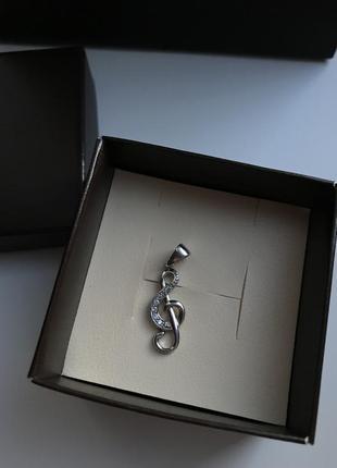 Подвеска из серебра «скрипичный ключ»