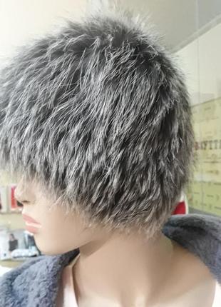 Модная шапочка из чернобурки