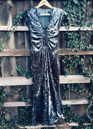 Бархатное вечернее платье