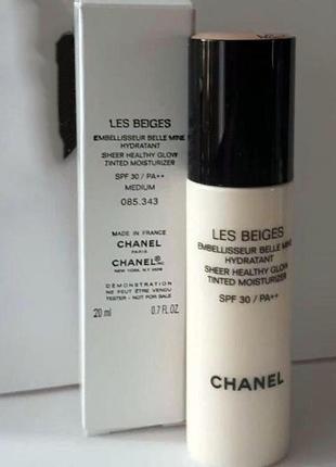 Оттеночный флюид chanel les beiges sheer healthy glow tinted moisturizer spf30/pa