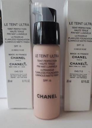 Chanel le teint ultra spf 15 ультрастойкий тональный флюид. mатовый результат