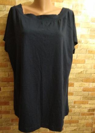 Новая тёмно-синяя футболка 56-60 размера