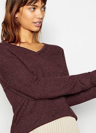 Коричневый джемпер,кофта,свитер,пуловер,шерсть-кашемир,маленький размер, massimo dutti