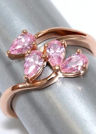 Кольцо фирмы xuping.цвет: позолота ко .камни: белый циркон.