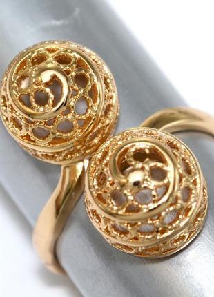 Кольцо (поцелуй) фирмы xuping. цвет: позолота.