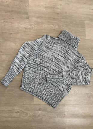 Красивый свитер гольф меланж коттон naturaline