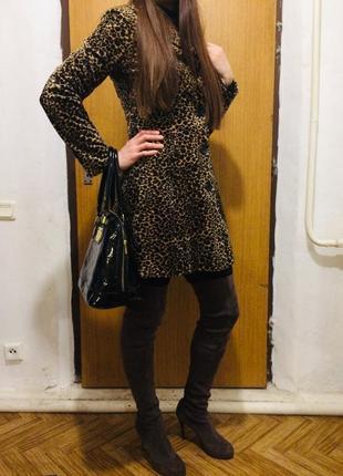 Стильное леопардовое пальто тренч